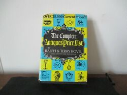 1st Kovel Price Guide The Complete Antiques Price List With Dust Cover 1968