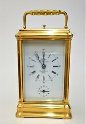 L'epee Carriage Clock. Gilt Gorge Case With Strike Repeat And Alarm. Immaculate
