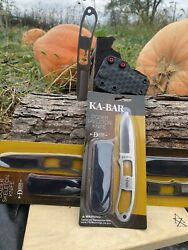 Kabar Dozier Neck Knife With Horizontal Carry Sheath Knife Included