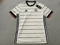 Nwt Adidas Youth Xl Germany 2020/21 White Away Soccer Jersey Kids Kit X-large