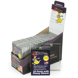 25 Promold Mh35s One Touch 35 Pt. Sleeved Trading Card Magnetic Holders