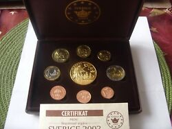 Set Of 9 Coins Sweden 2003 Pattern Euro Collection 1 Cent- 5 Euro Rare