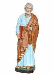 Saint Peter Resin Statue Cm. 100 With Glass Eyes