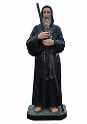 Saint Francis Of Paola Fiberglass Statues Cm 130 With Glass Eyes