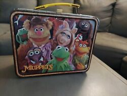 Vintage 1979 Jim Henson Muppets Lunch Box Featuring Kermit W/ Thermos