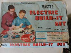 Vintage Master Electric Build It Set Model 810 Looks To Be Near Complete
