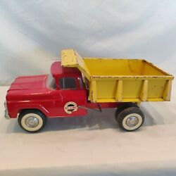 Vintage 1960and039s And039red And Yellowand039 Nylint No. 5100 Dump Truck Nice Rare Piece. Wow