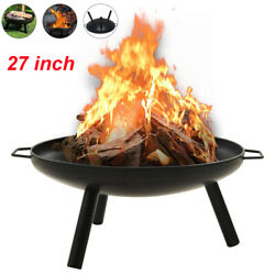 27 Fire Pits Outdoors Heaters Bbq Garden Brazier Round Wood Burning Fireplace