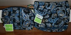 Vera Bradley Windsor Navy Large Cosmetic and Ditty Bag New with Tags $45.99