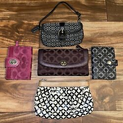 Coach Purse Wallet Carrying Bag Bundle Lot Of 5 Used $49.99