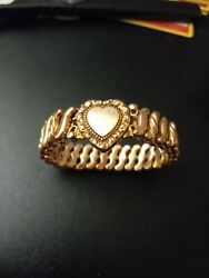 Vintage Gold Filled Dfb Co Expandable Lockett Bracelet 4x0 Made In Usa Very Nice