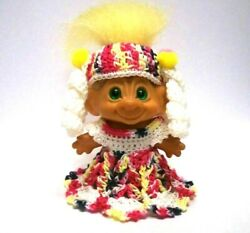 Troll Doll Clothes For 2 1 2quot; or 2 3 4quot; VINTAGE DAM CROCHET OUTFIT CLOTHE $12.99