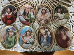 Complete Set Bradford Exchange Gone With The Wind Cameo Memories Plates Scarlett