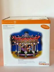 Mib Dept 56 Snow Village Halloween Ghostly Carousel Only Opened For Photos