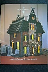 Rare Martha By Mail Haunted Gingerbread Mansion Template Set W/booklet - Unused