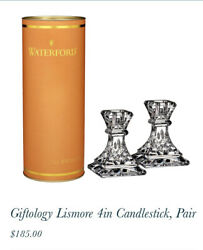 Waterford Crystal Giftology Lismore 4inch Candlesticks