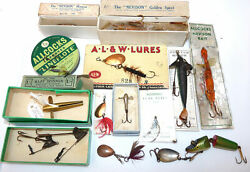 Allcockand039s Of Redditch Vintage Lures And Bait Mounts Minnows Baits Mounts Fl...