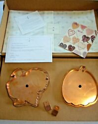 Martha By Mail Copper Cookie Cutter Set - Turkey And Pumpkin And 2 Copper Hangers