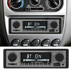 Bluetooth Vintage Car Fm Radio Mp3 Player Usb Aux Classic Stereo Receiver Lcd Us