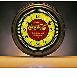Products Cocacola Brand Neon Clock Drink Table Clock Fashionable Table Clock I
