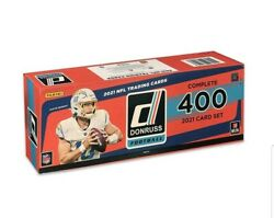 2021 Panini Donruss Football Factory Sealed Complete Set 400 Card Rated Rookie