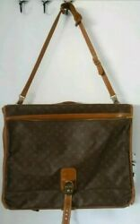 Vintage Luxury Louis Vuitton French Company Monogrammed Garment Case Lock And Key