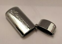 Vintage Gauloises Silver Tone Solid Cover Case Sleeve For Mini Lighter Bic