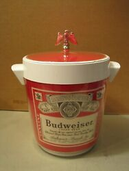 Vintage Budweiser Anheuser Beer Thermo Serv Ice Holder Bucket 9 X 8 Westbend