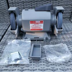 New Open Box Vintage Sears Craftsman 1/3 Hp 6 In. Bench Grinder Model 397.19330