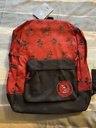 Disney Store The Original Mickey Mouse Red Backpack New