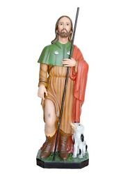 Statue Saint Rocco Cm 120 In Fibreglass With Eye Glass For Interior And External
