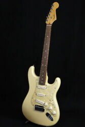 Used Fender Usa American Deluxe Stratocaster N3 Olympic Pearl 2011 Guitar