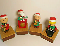 Hallmark Wireless Peanuts Band Collection 2011 Set Of 4 Four Working Christmas