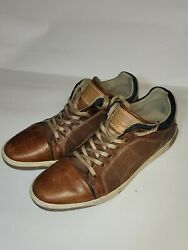 BULL BOXER BROWN LEATHER Dolgos OXFORDS SNEAKERS CASUAL Shoes US MENS SZ 11