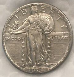 1924-d Standing Liberty Quarter 25c Silver Coin. Looks Unc To Me