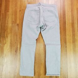 3x1 M3 Mens Gray Denim Button Fly Jeans 33 33x29 Low Rise