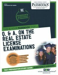 This Is Your Passbook For Q. And A. On The Real Estate License Examinations Pa...