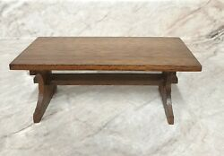 MINIATURE WOOD TABLE FOR DOLLHOUSE 1:12 SCALE KITCHEN DINING ROOM