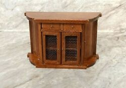 MINIATURE WOOD CABINET FOR DOLLHOUSE 1:12 SCALE
