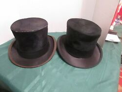 Men#x27;s Vintage Black Top Hat Excelled By None Non Collapsable