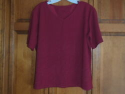Harley-davidson Womenand039s Short Sleeve Pull Over T-shirt Sz Large Textured Maroon