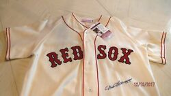 Dom Dimaggio Signed1951 Red Soxmitchell Nessbaseball Jersey-jsa Authenticated