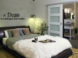 A DREAM IS A WISH Wall Decals Quotes Sayings Home Vinyl