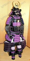 Japanese Iron And Silk Knotted Wearable Rüstung Samurai Armor Suit 005