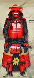 Collected Iron Japanese Samurai Armor Wearable Suit Red