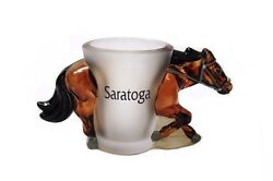 Saratoga 3D Racer Horse Shot Glass New $4.99