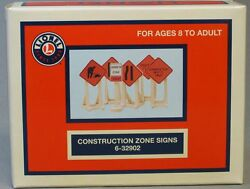 Lionel Construction Zone Signs Train Road Track Highway Maintenance 6-32902 New