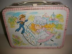 Tin Lunchbox And Thermos, Polly Pal, Girly Style, 1974, Vintage, Collectible