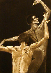 G H Rothe Intensity 1983 Art Figures Hand Signed Mezzotint Limited Editionl@@k