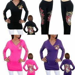 Nwt Bus Stop Guitar Rock Hoodie Top Pants Womenand039s Plus Size 1x 2x 3x